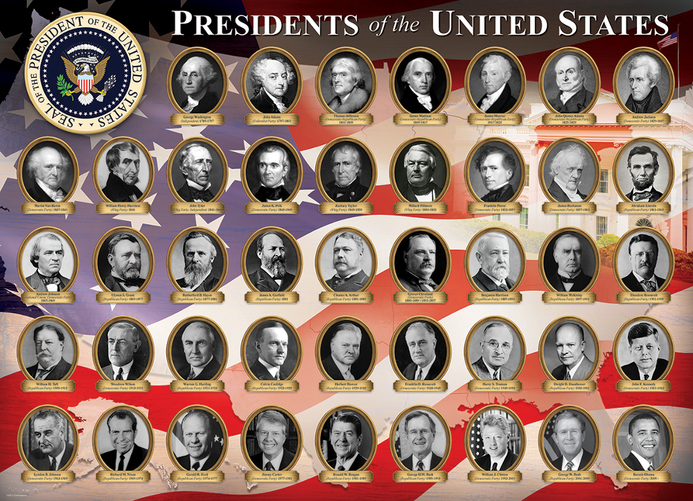 Presidents Of The United States Small Box Jigsaw Puzzle