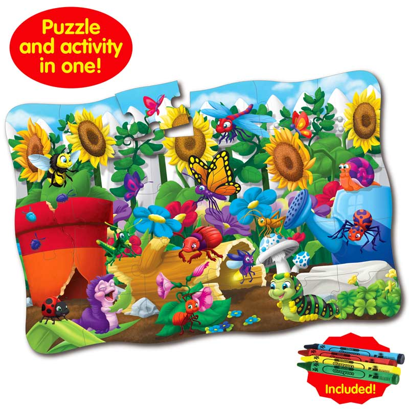 Puzzle Doubles Giant Backyard Bugs Butterflies and Insects Floor Puzzle