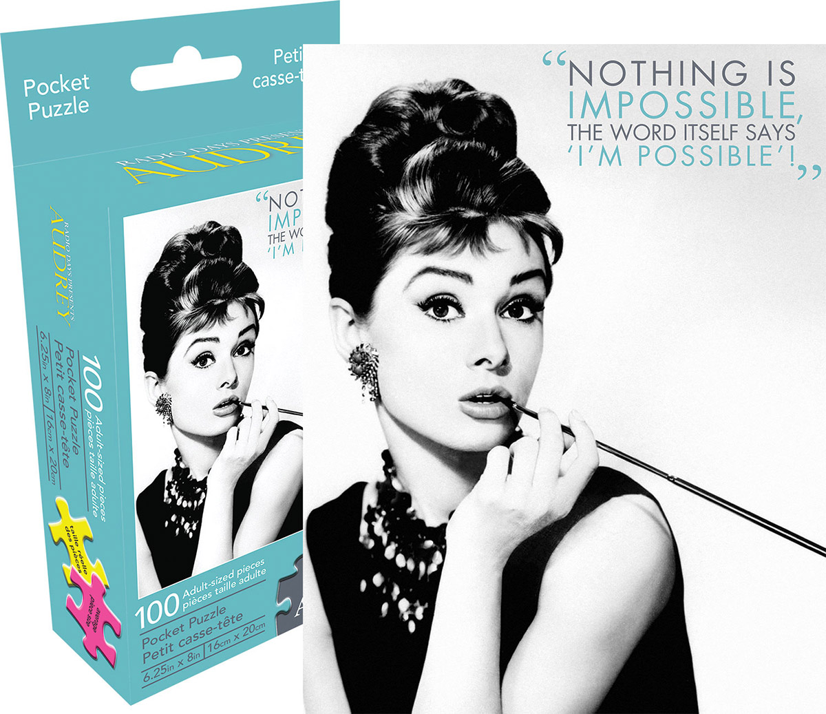 Audrey Quote Famous People Jigsaw Puzzle