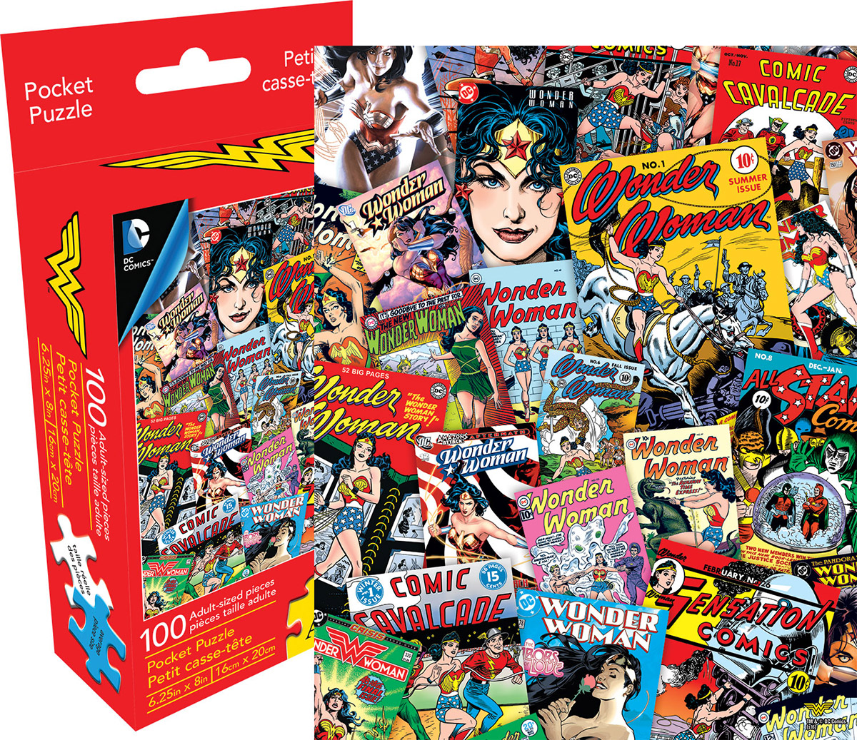 DC Comics Wonder Woman Collage Jigsaw Puzzle