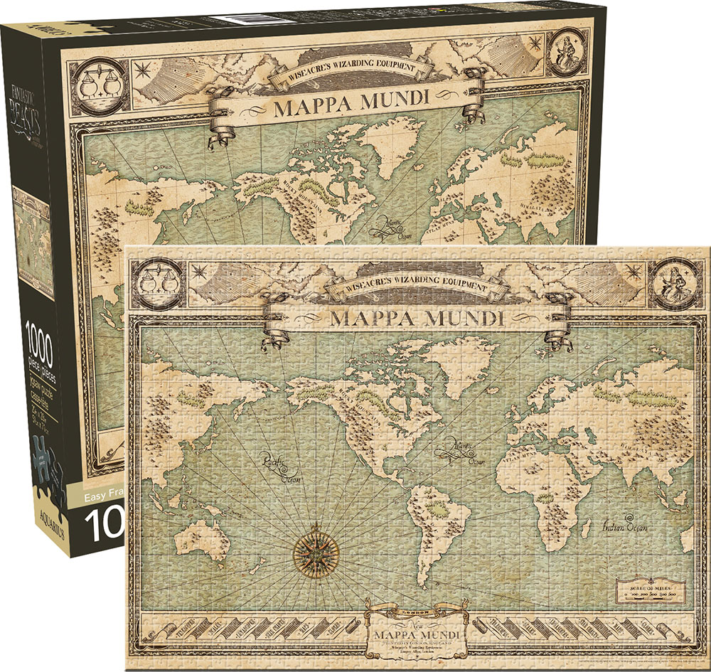 Fantastic Beasts Map Maps / Geography Jigsaw Puzzle