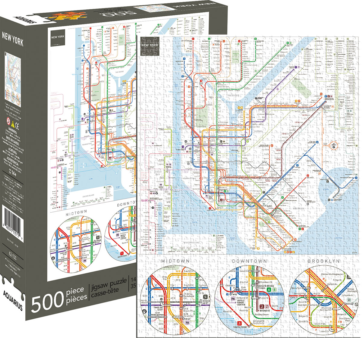 New York Subway - Scratch and Dent Graphics / Illustration Jigsaw Puzzle