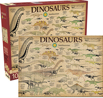 Smithsonian Dinosaurs - Scratch and Dent Dinosaurs Jigsaw Puzzle