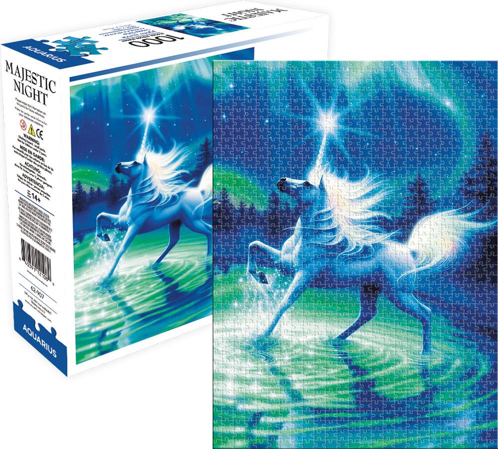 Majestic Night Unicorns Jigsaw Puzzle