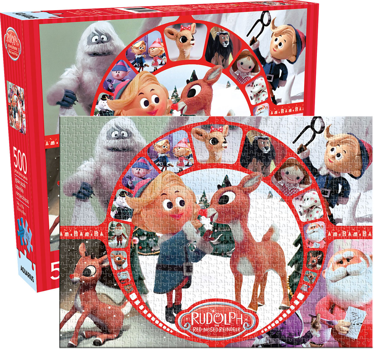 Rudolph Collage Christmas Jigsaw Puzzle
