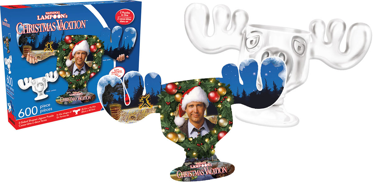 Christmas Vacation Movies / Books / TV Shaped Puzzle