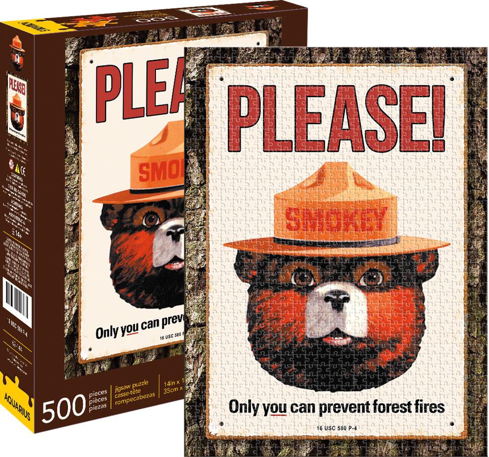 Smokey Bear Nostalgic / Retro Jigsaw Puzzle
