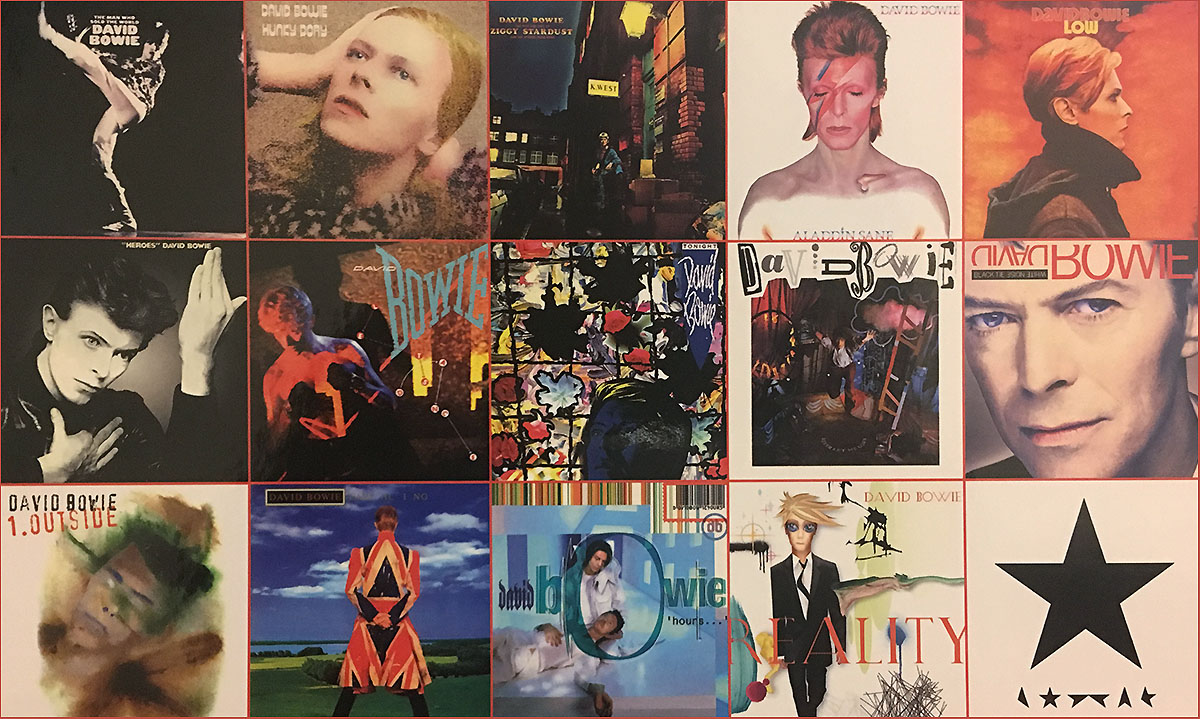 David Bowie Albums Movies / Books / TV Jigsaw Puzzle
