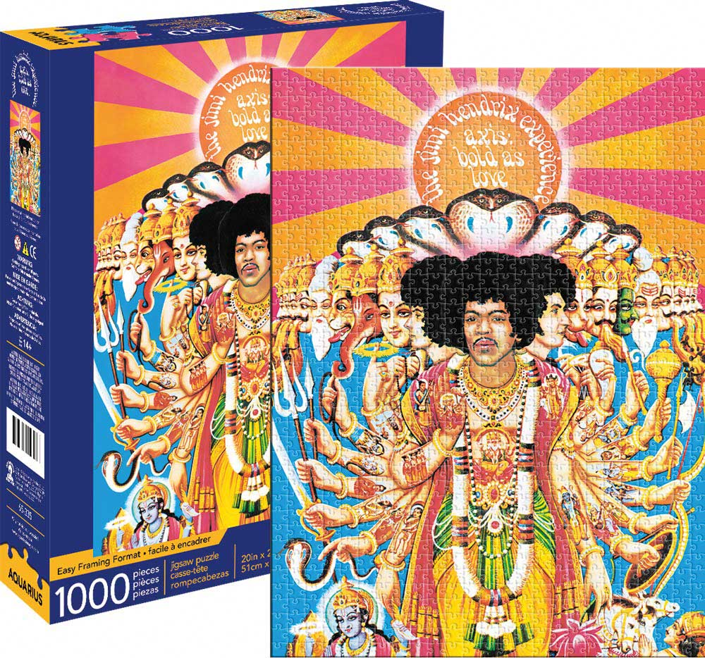 Jimi Hendrix- Axis Famous People Jigsaw Puzzle