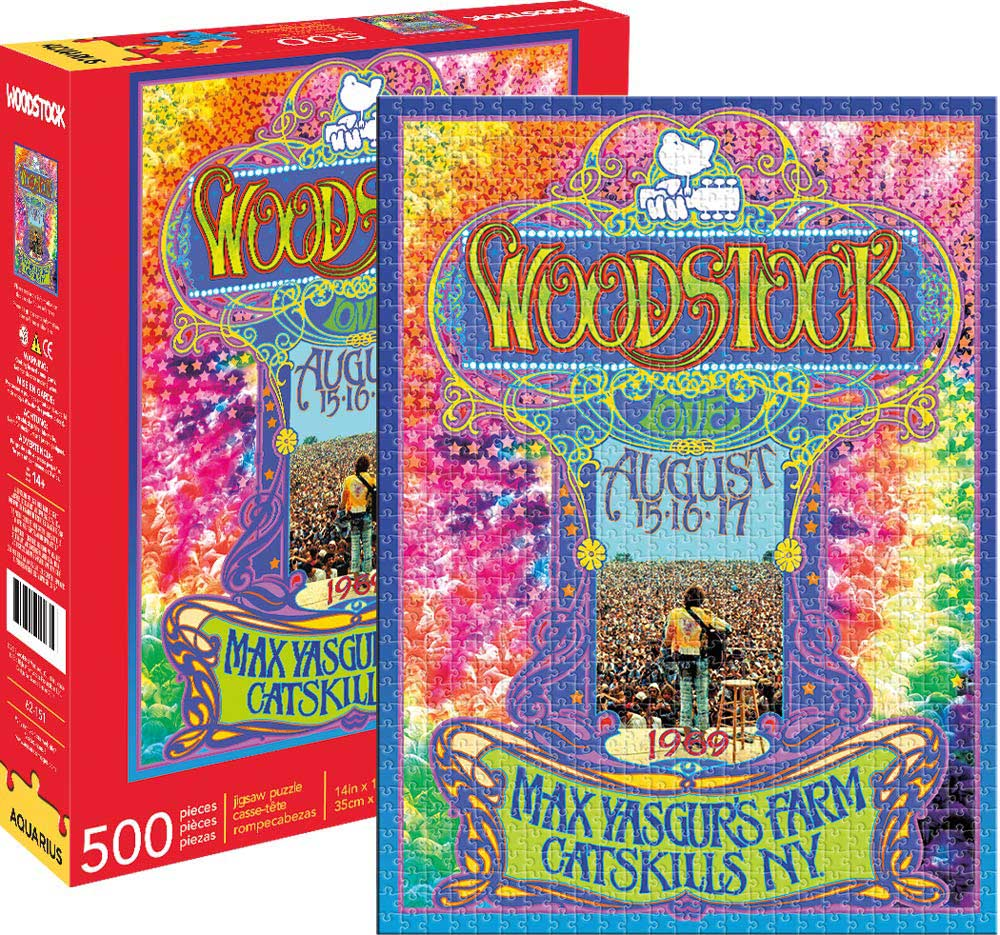 Woodstock Collage Music Jigsaw Puzzle