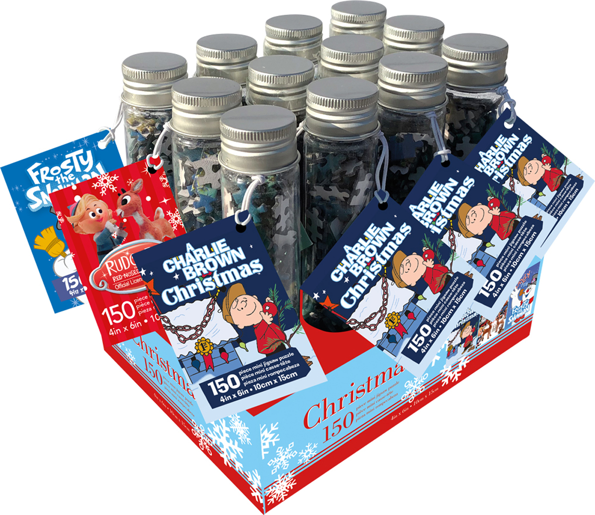 Traditional Christmas 150pc Puzzle in a Tube For Ordering