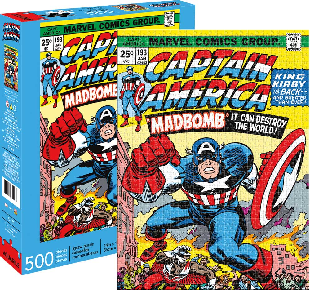 Marvel Captain America Cover Graphics / Illustration Jigsaw Puzzle