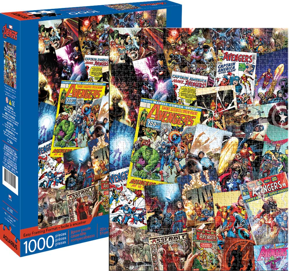 Marvel Avengers Collage - Scratch and Dent Graphics / Illustration Jigsaw Puzzle
