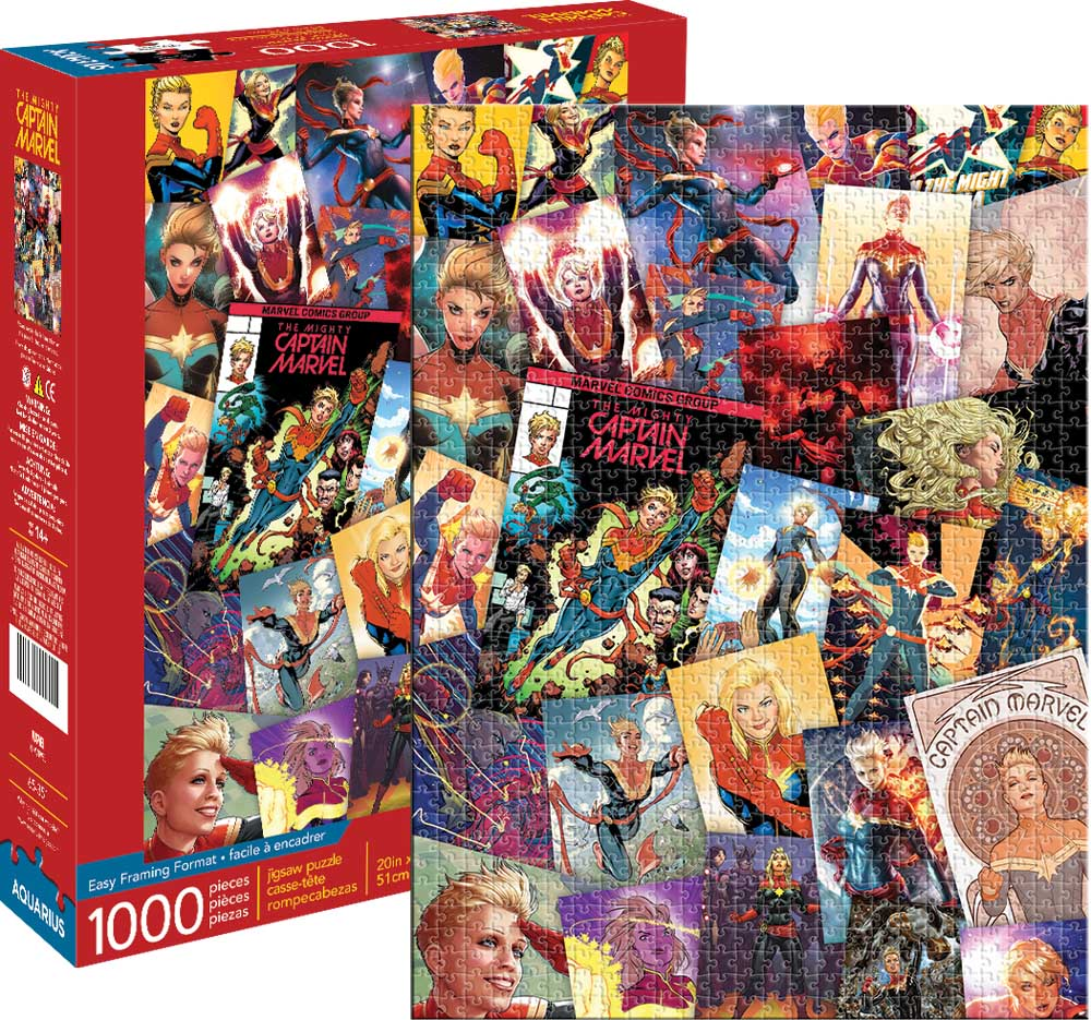 Marvel Captain Marvel Collage Graphics / Illustration Jigsaw Puzzle