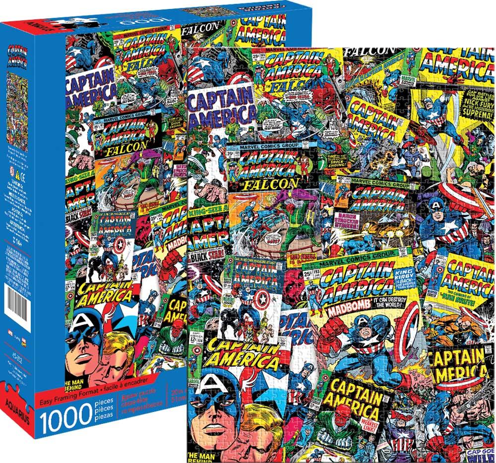 Marvel Captain America Collage Graphics / Illustration Jigsaw Puzzle