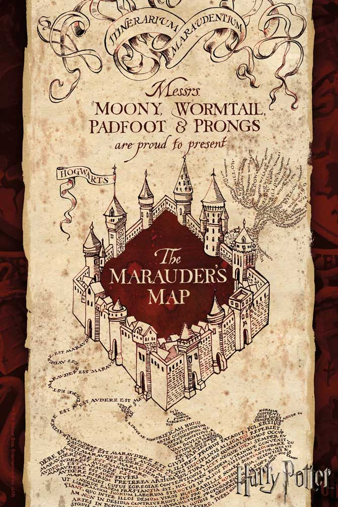 Marauder's Map Puzzle in a Tube Harry Potter Jigsaw Puzzle