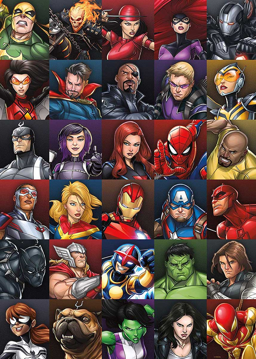 Marvel Heroes Collage Super-heroes Jigsaw Puzzle