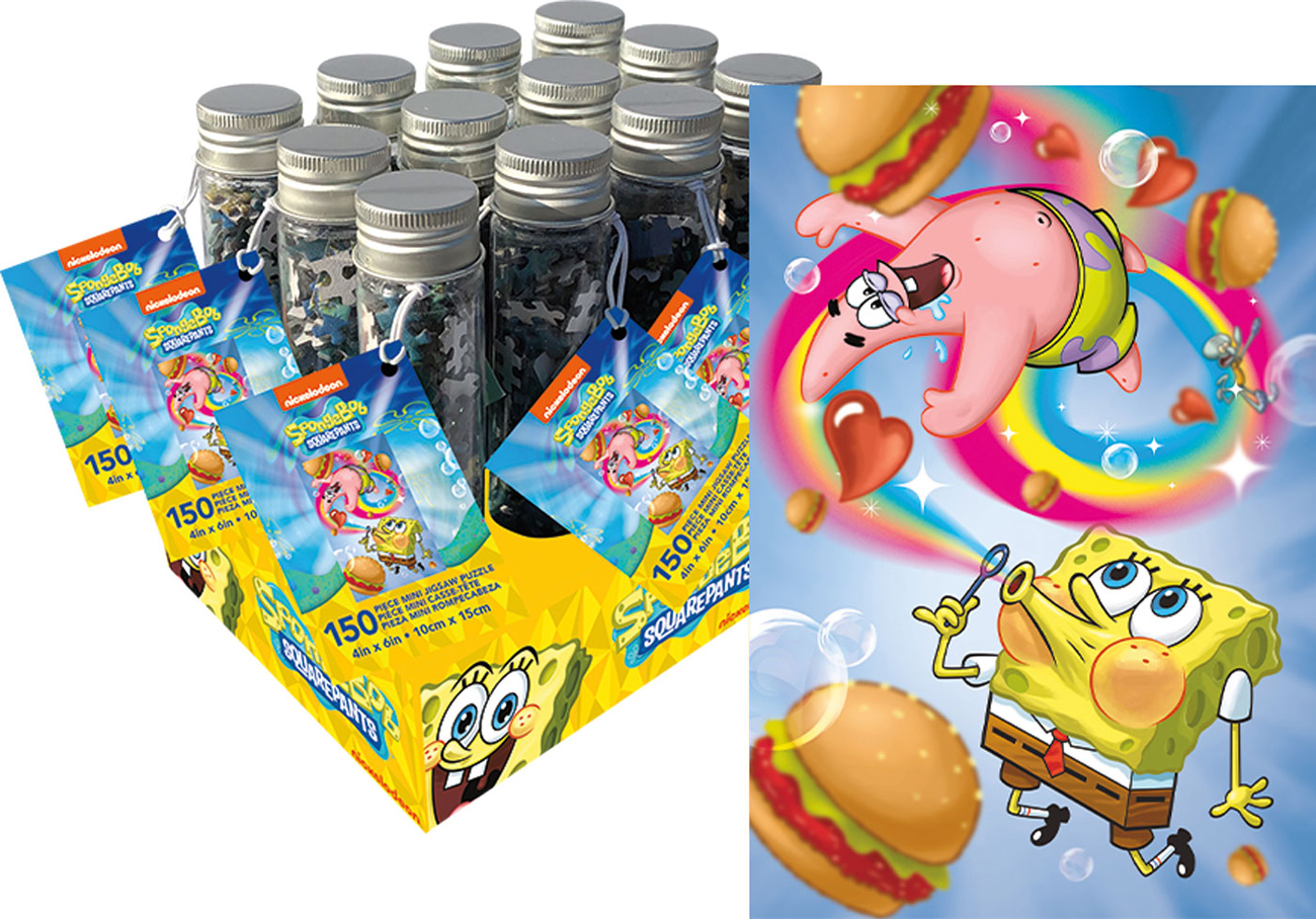 Spongebob Squarepants 150pc Puzzle In A Tube Cartoons Jigsaw Puzzle