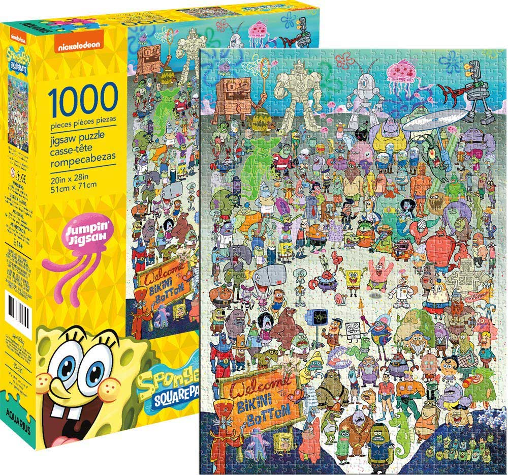 SpongeBob SquarePants Cast Cartoons Jigsaw Puzzle