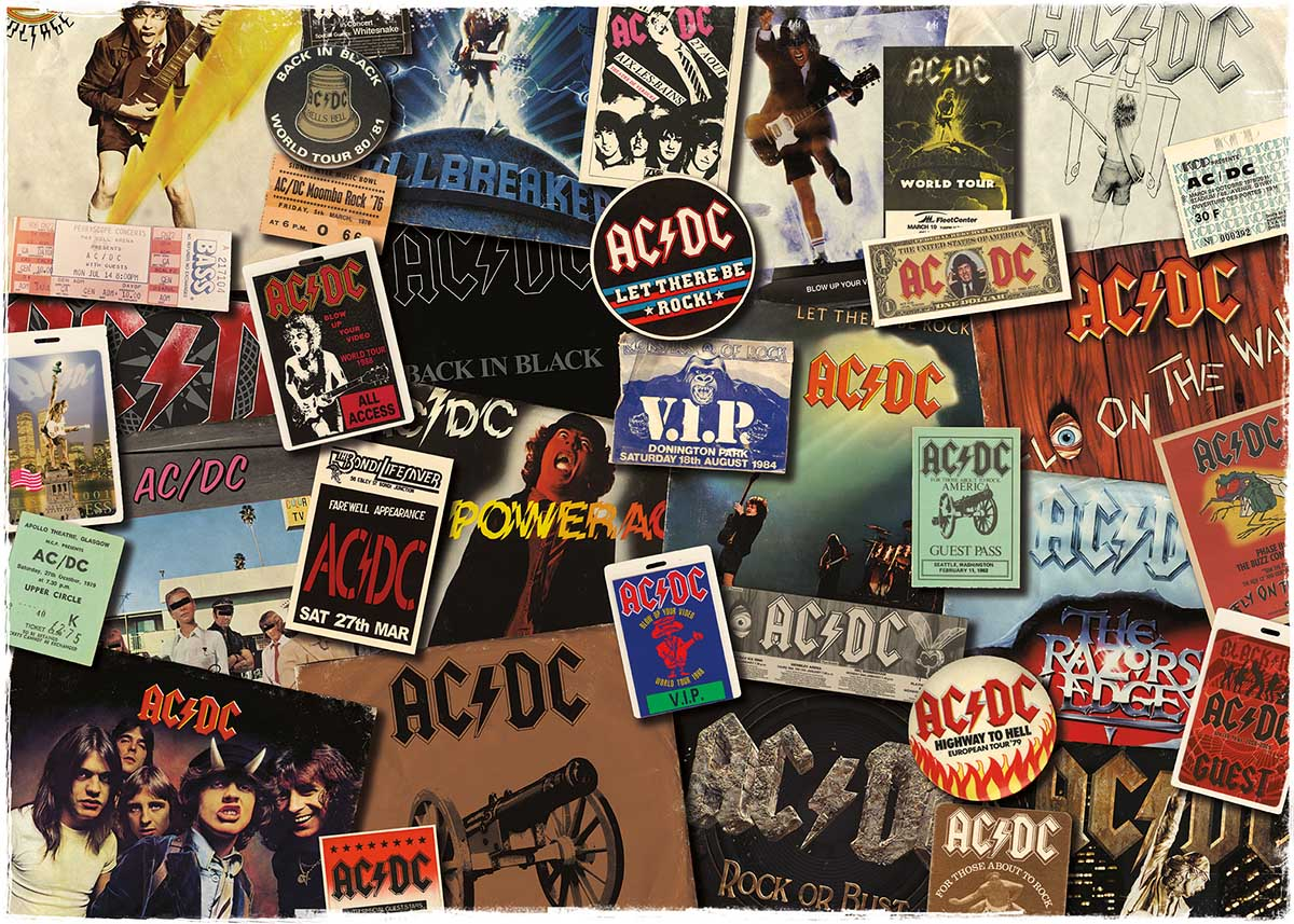AC/DC Albums Music Jigsaw Puzzle