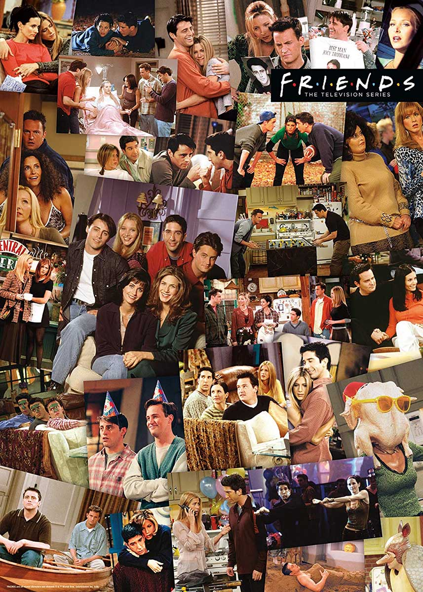 Friends Collage Movies / Books / TV Jigsaw Puzzle