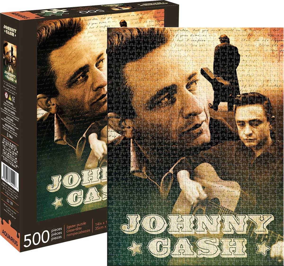 Johnny Cash Famous People Jigsaw Puzzle