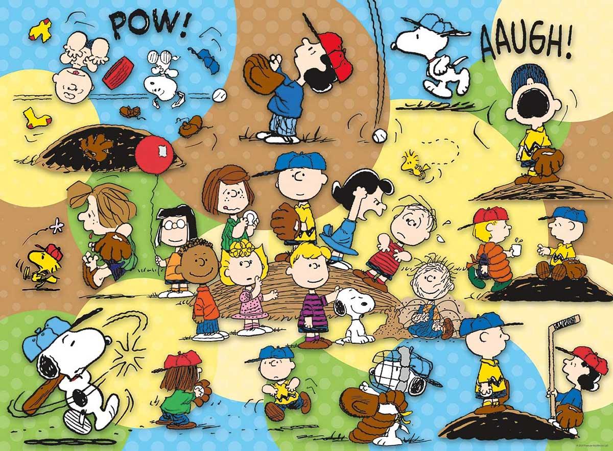 Peanuts Baseball Cartoons Jigsaw Puzzle