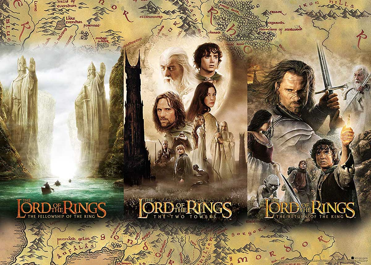 Lord of the Rings Triptych Fantasy Jigsaw Puzzle