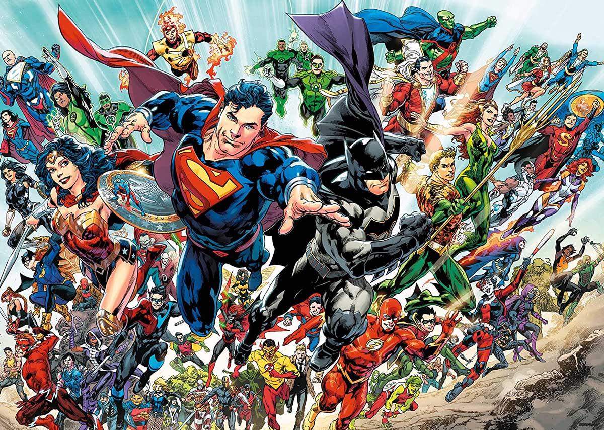 DC Comics Cast Super-heroes Jigsaw Puzzle