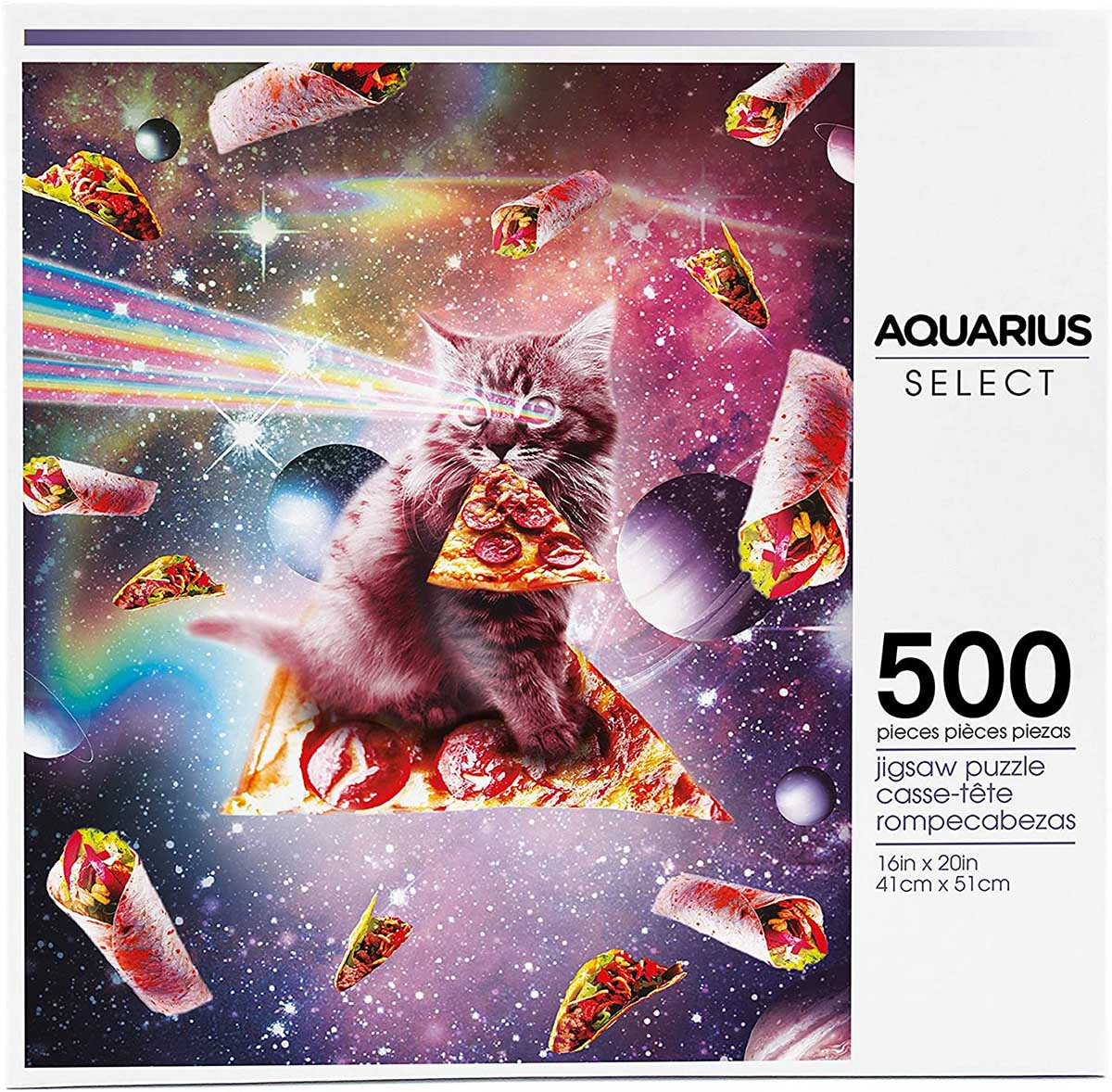 Cat Pizza Space Jigsaw Puzzle