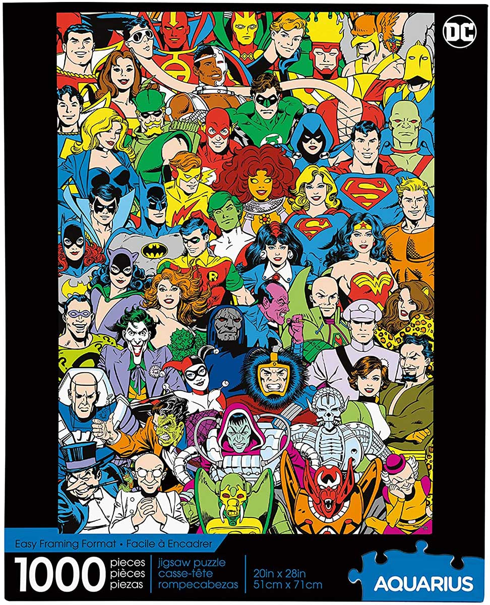 DC Comics- Retro Cast Nostalgic / Retro Jigsaw Puzzle