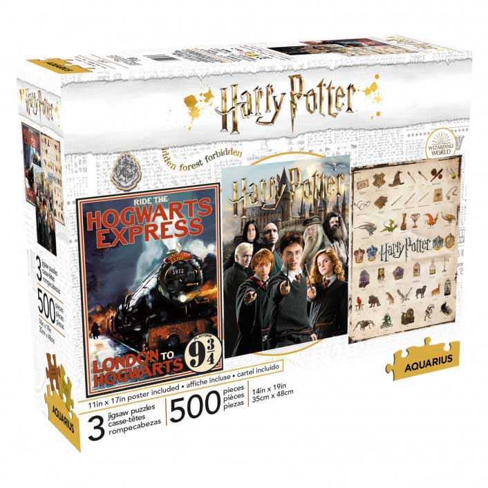 Harry Potter 500pc x 3 Fantasy Jigsaw Puzzle