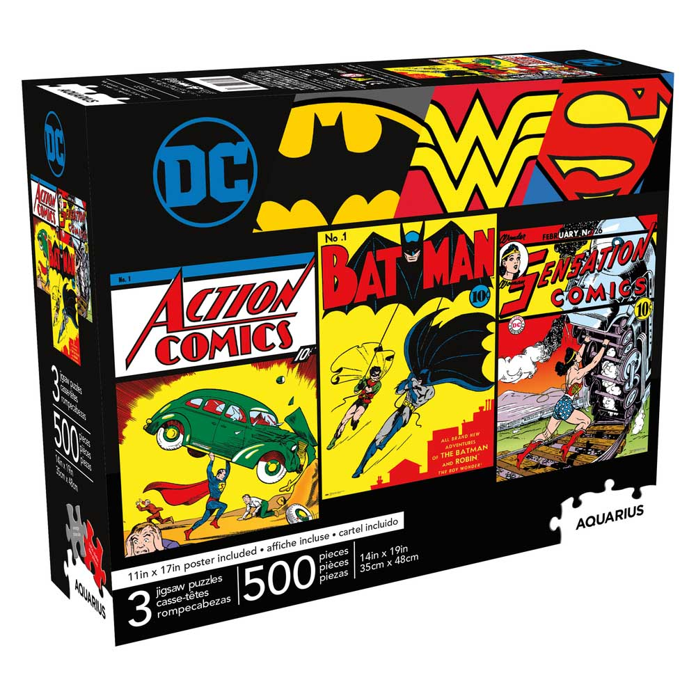 DC Comics 500pc x 3 Nostalgic / Retro Jigsaw Puzzle