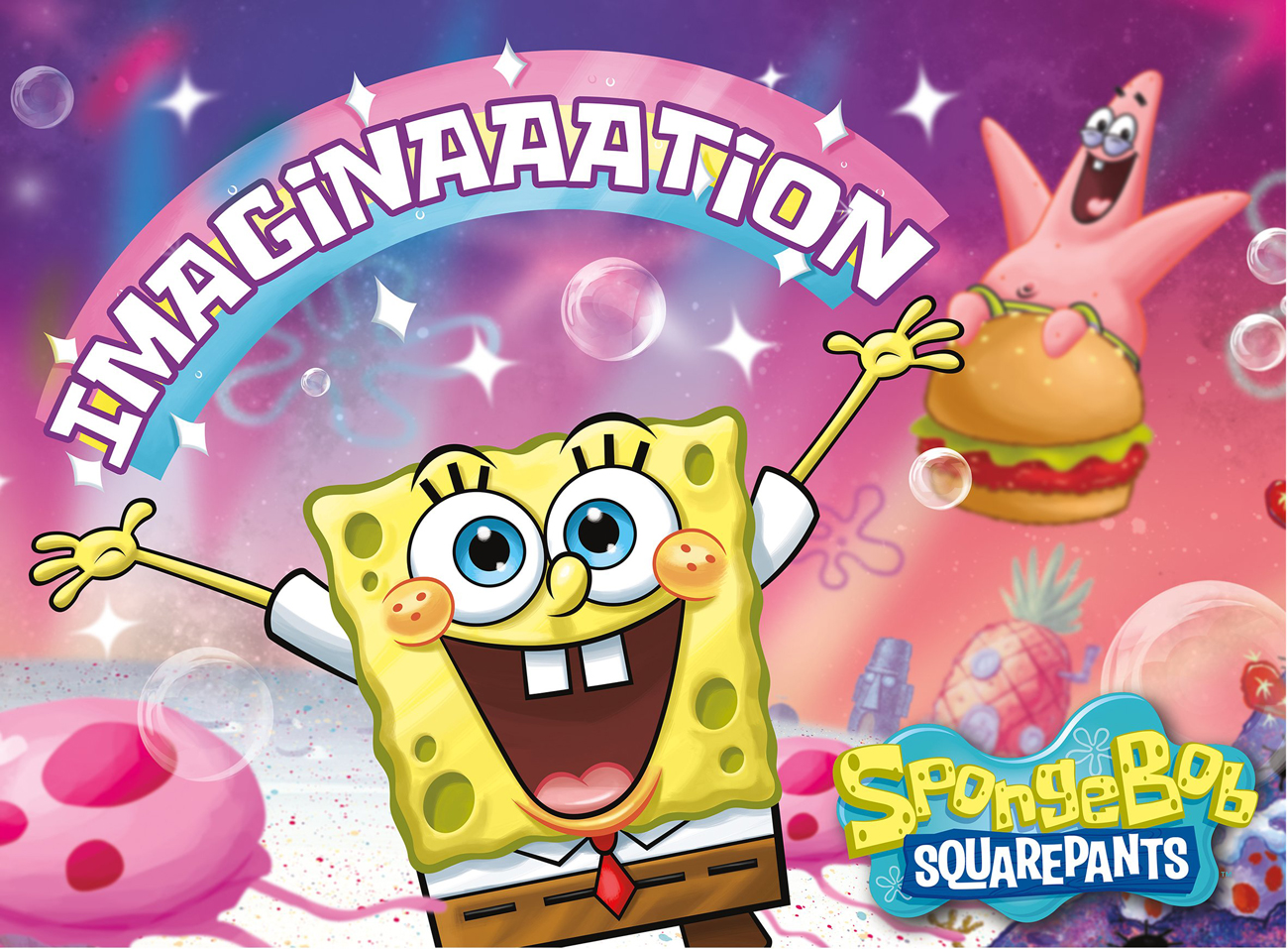 SpongeBob Square Pants Imagination Cartoons Jigsaw Puzzle