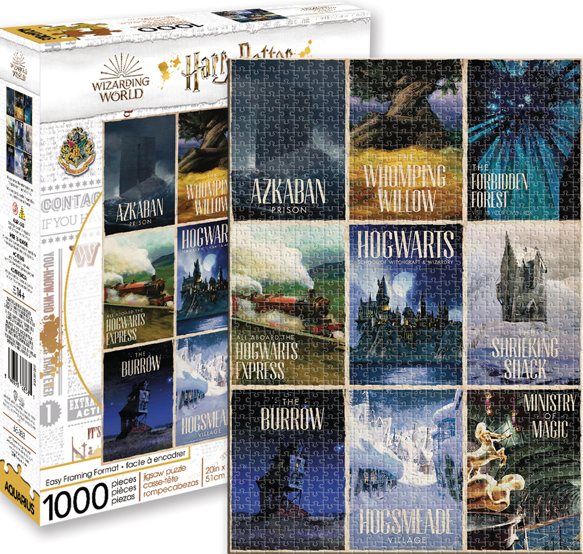 Harry Potter Travel Posters Harry Potter Jigsaw Puzzle