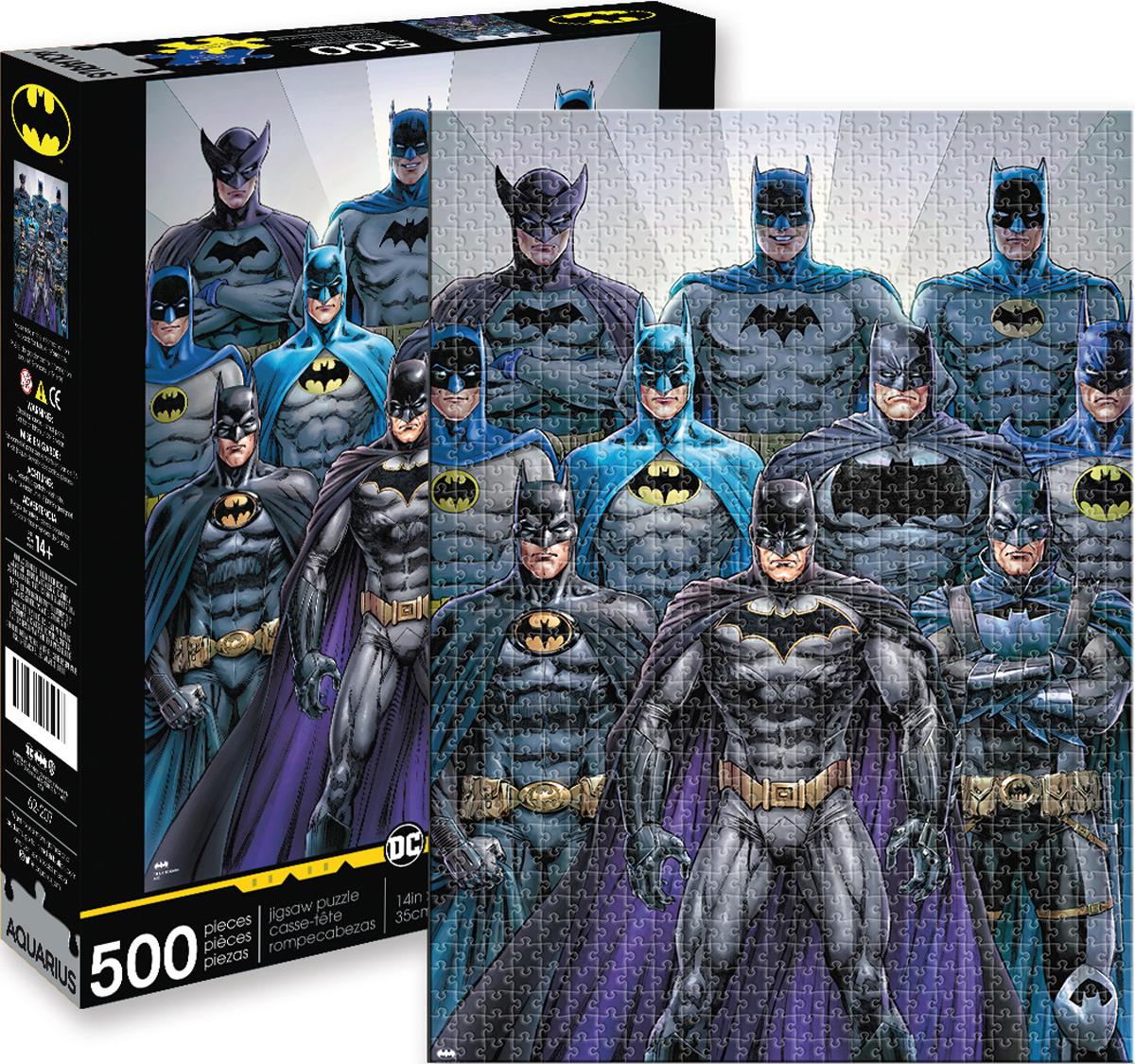 Batman Batsuits Super-heroes Jigsaw Puzzle