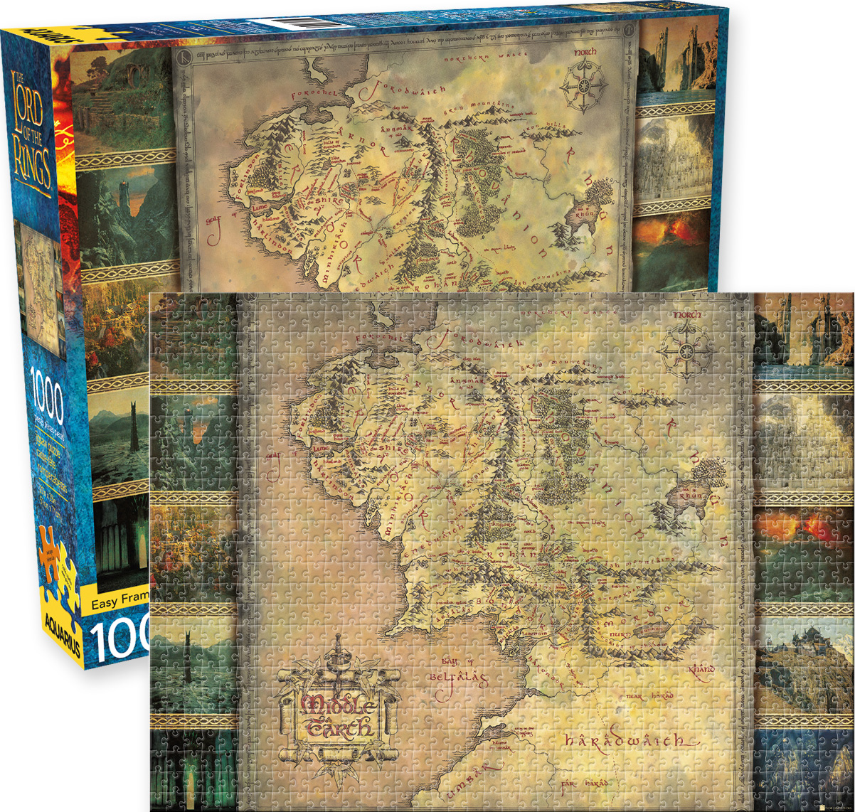 Lord of the Rings Map Movies / Books / TV Jigsaw Puzzle