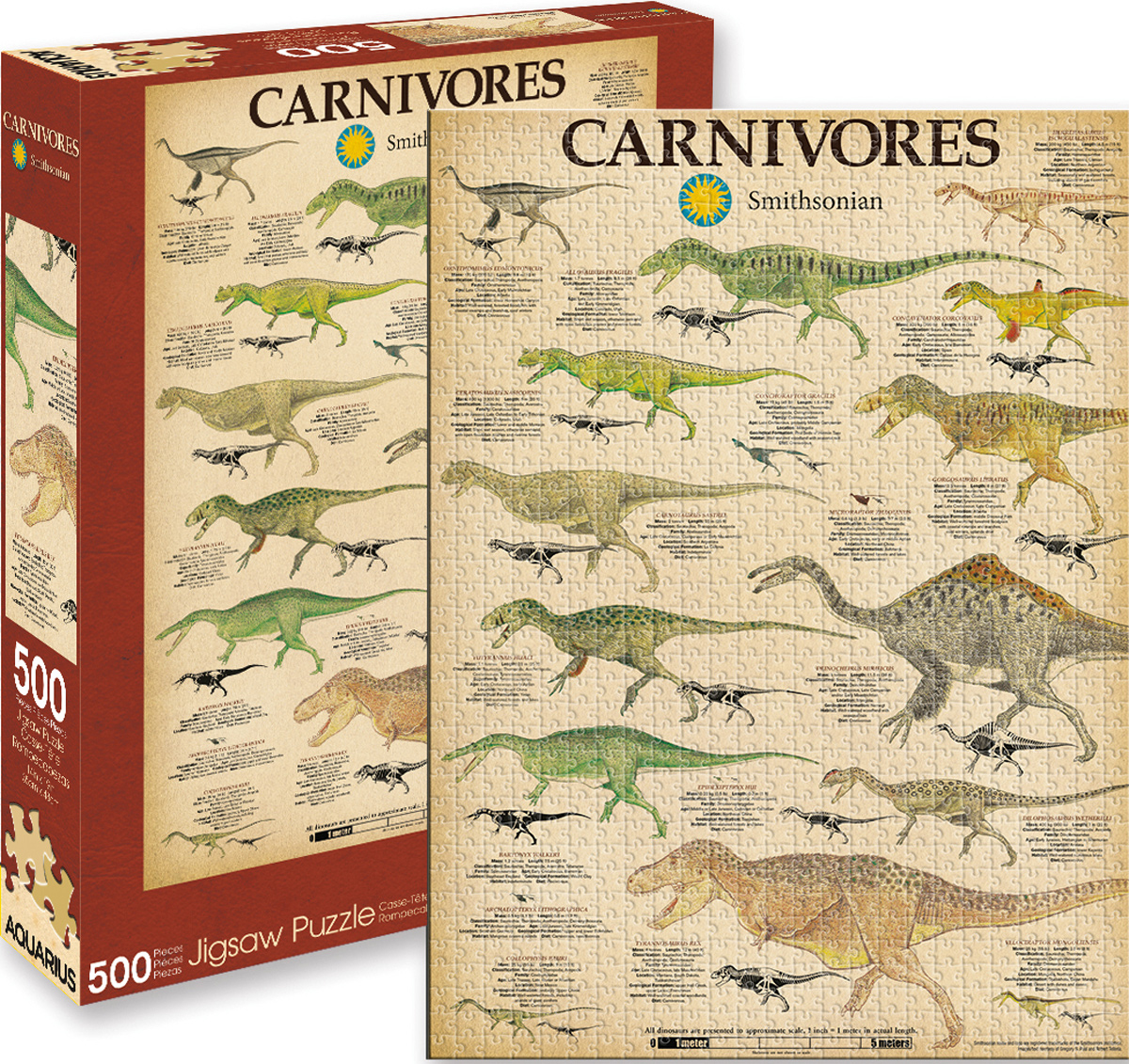 Smithsonian Carnivores Dinosaurs Jigsaw Puzzle