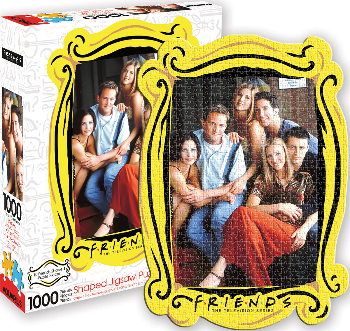 Friends Group Diecut Movies / Books / TV Shaped Puzzle