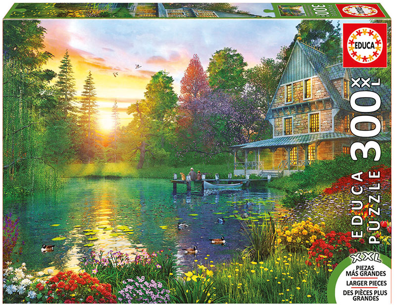 Sunset With Grandpa Landscape Jigsaw Puzzle