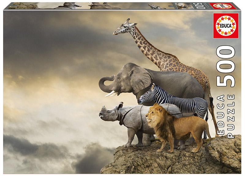 Animals On The Edge Of A Cliff Jungle Animals Jigsaw Puzzle