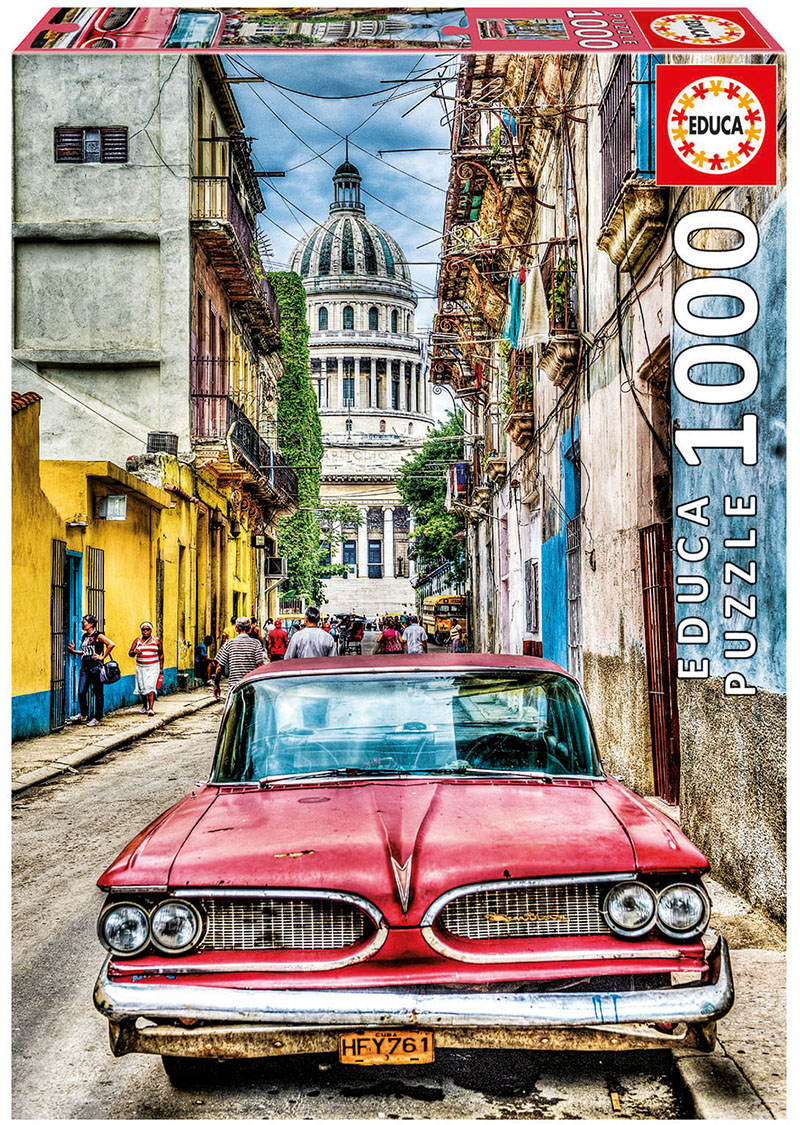Vintage Car In Old Havana Cars Jigsaw Puzzle