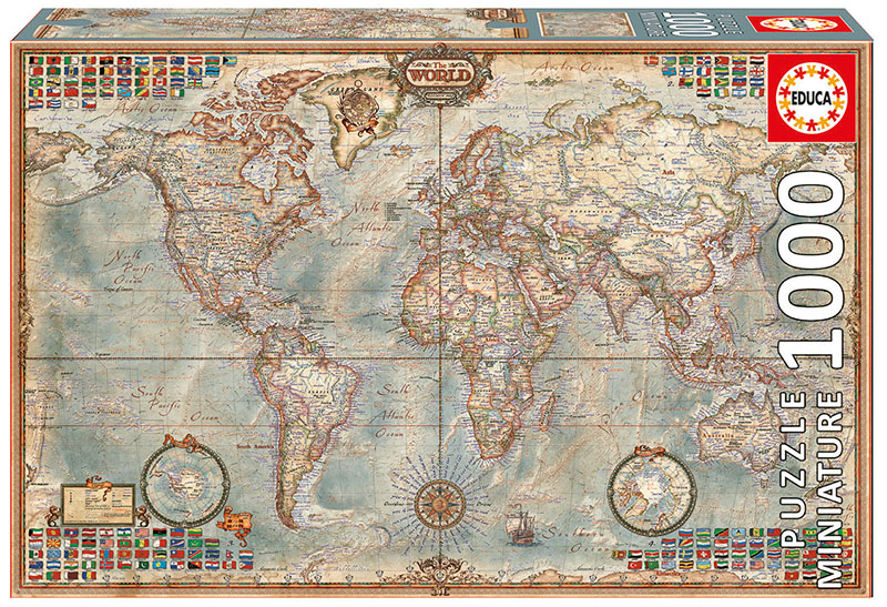 Political Map Of The World (Mini) Maps / Geography Jigsaw Puzzle
