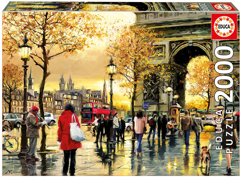 Arc De Triomphe - Scratch and Dent Street Scene Jigsaw Puzzle