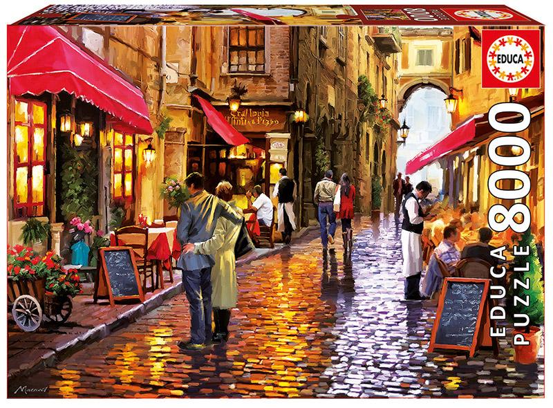 Café Street Street Scene Jigsaw Puzzle