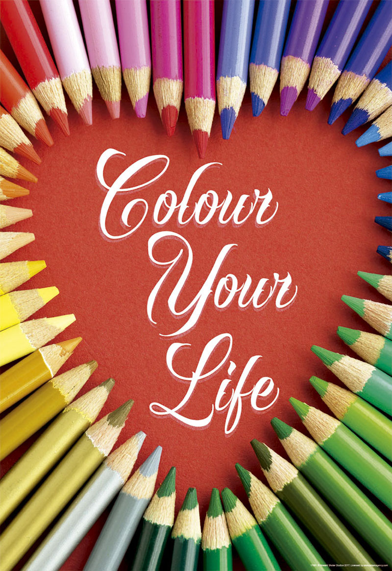 Colour Your Life Pattern / Assortment Jigsaw Puzzle