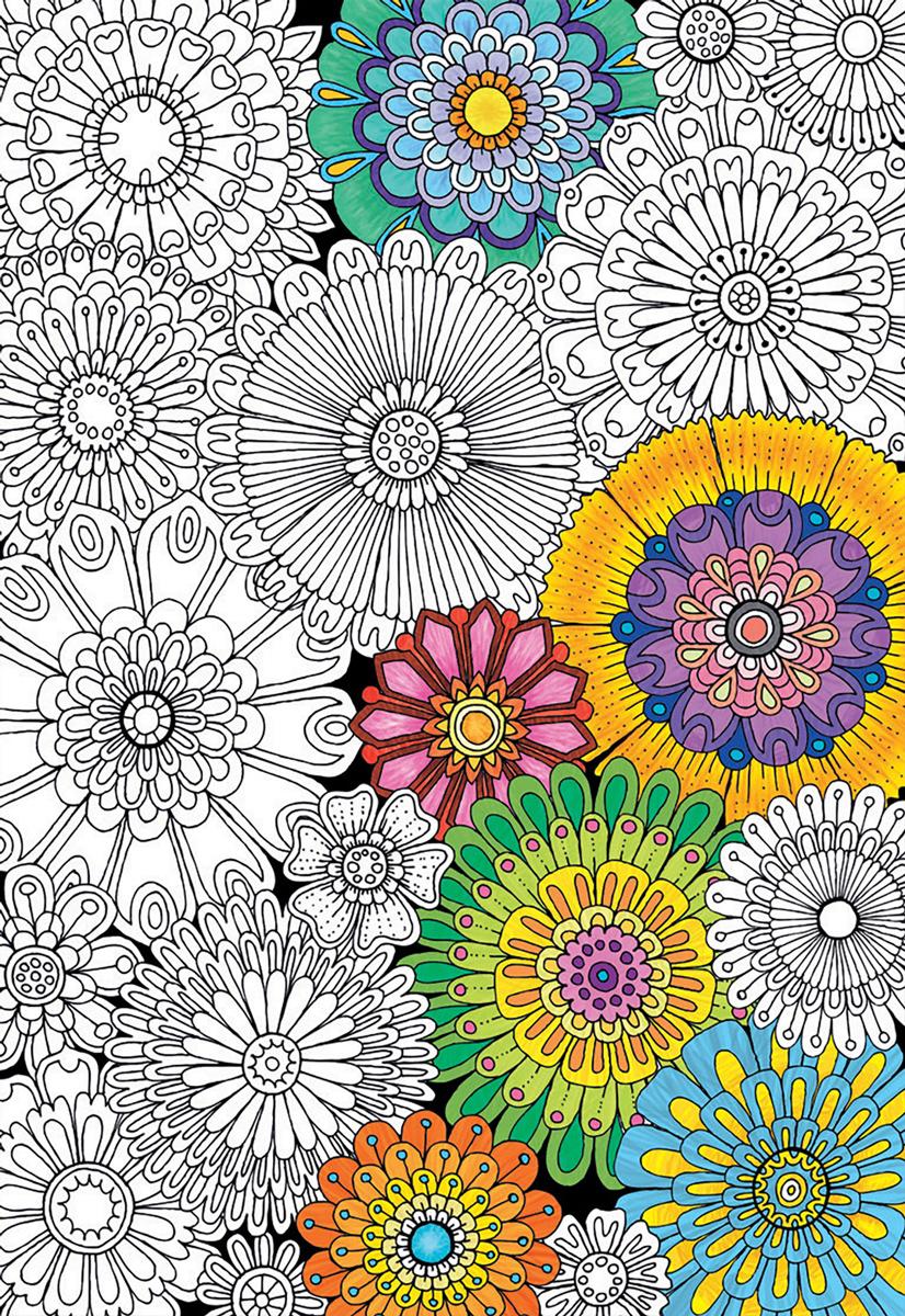 Big Beautiful Blossoms Flowers Jigsaw Puzzle