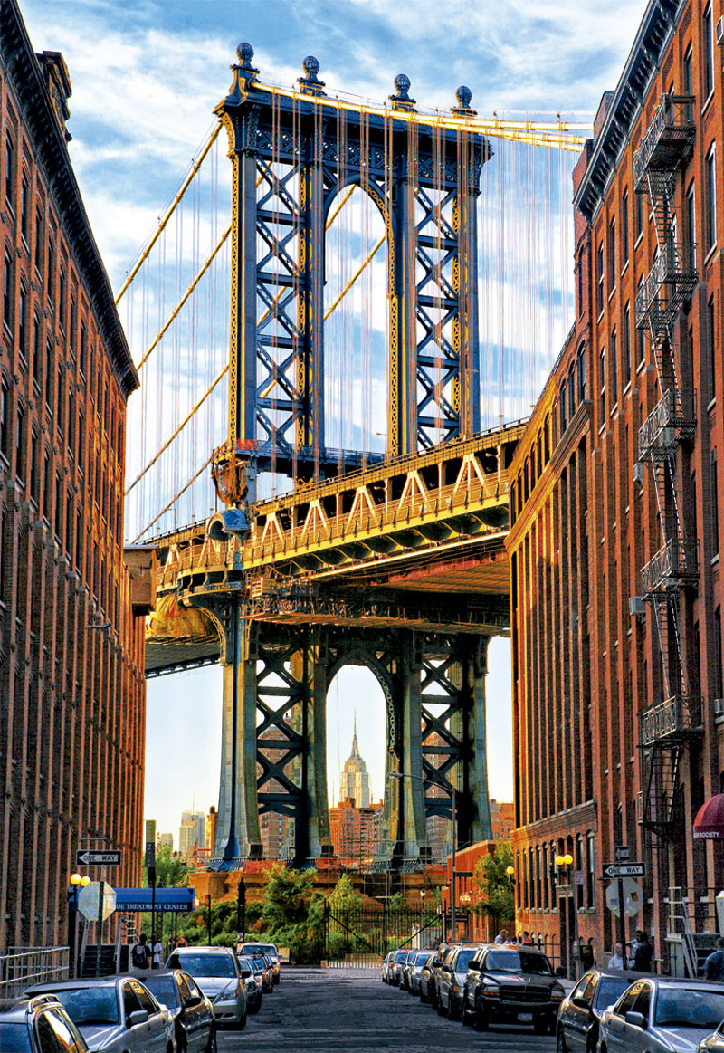 Manhattan Bridge New York Jigsaw Puzzle Puzzlewarehouse Com