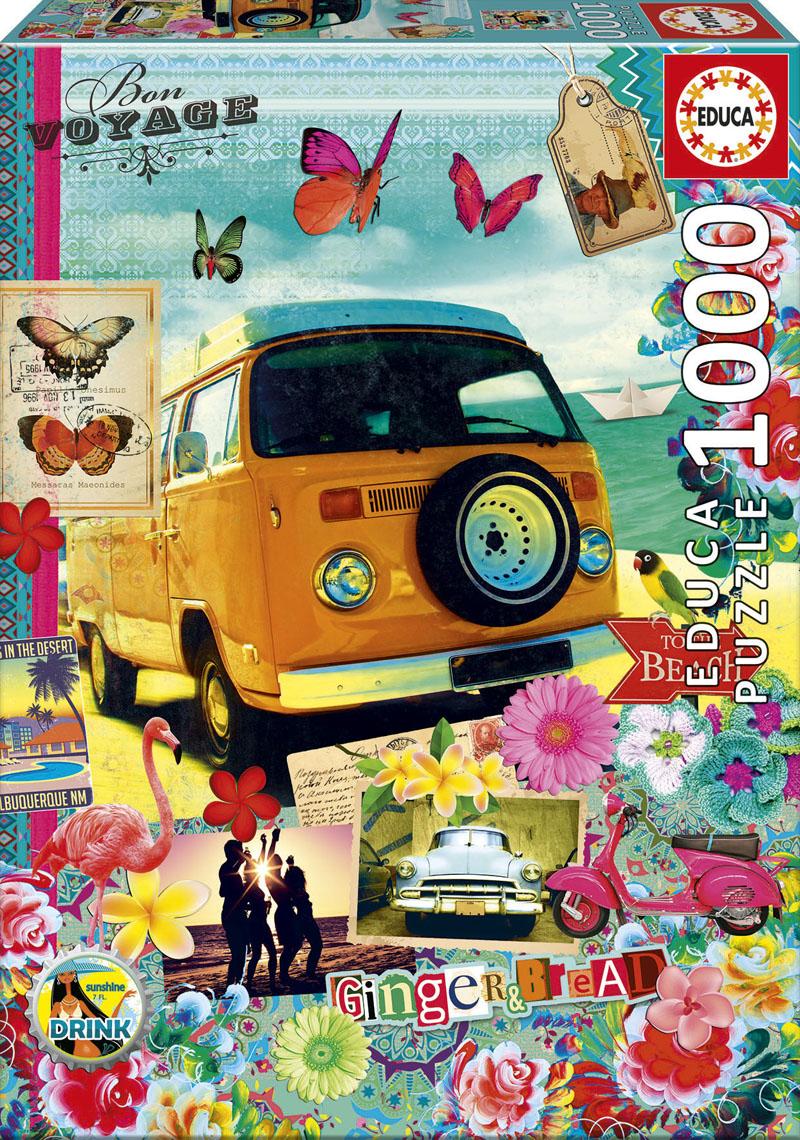 Bon Voyage Collage Jigsaw Puzzle