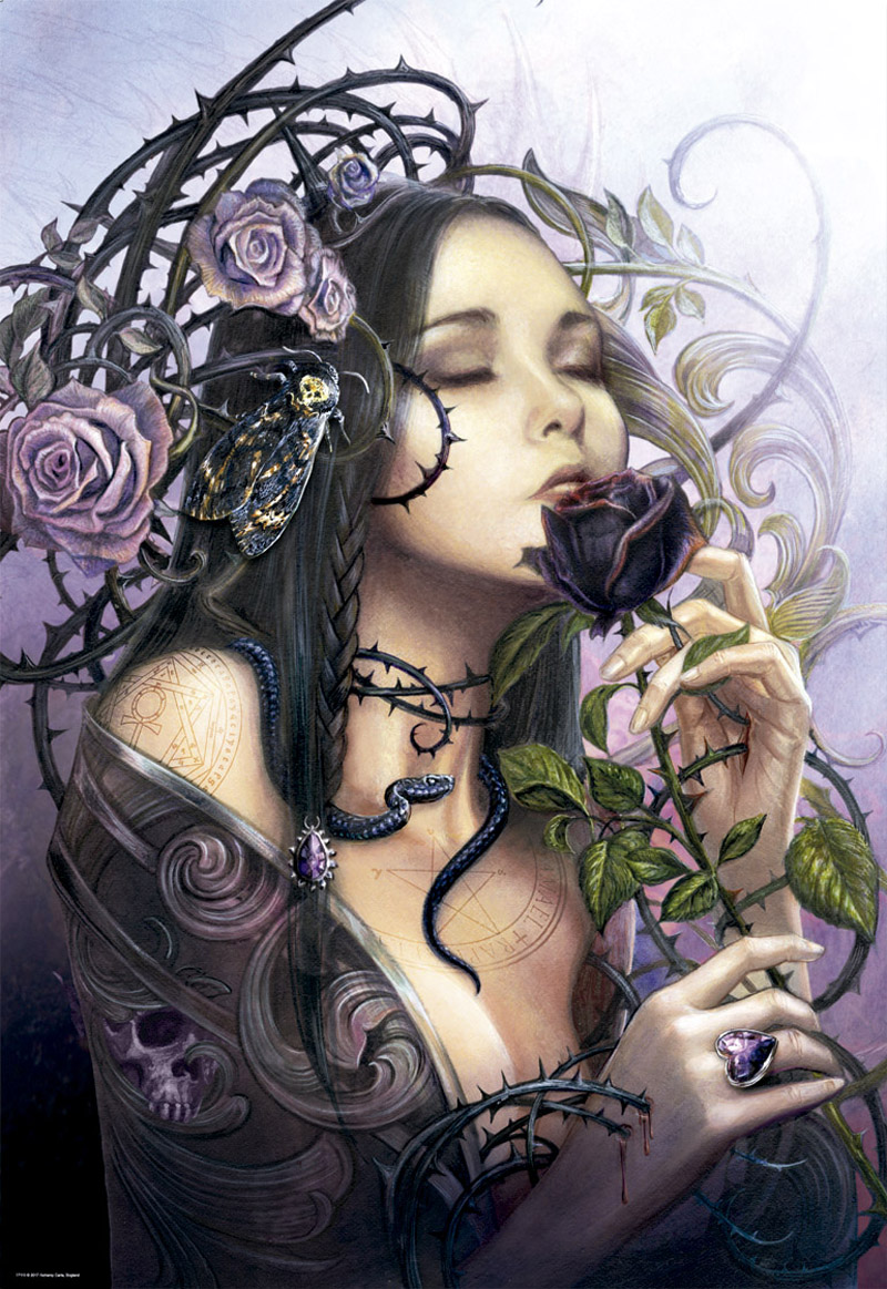 The Midnight Rose Gothic Jigsaw Puzzle